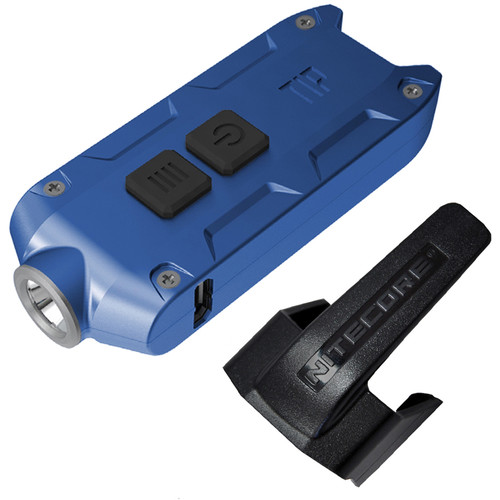 Nitecore TIP 2017 Rechargeable Metal Keyring Flashlight (Blue)