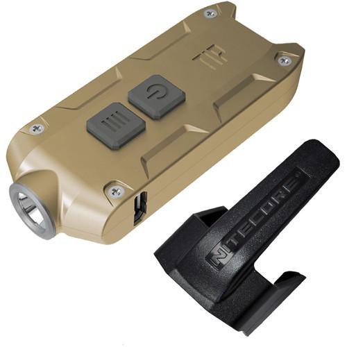 NITECORE TIP 2017 Rechargeable Metal Keyring Flashlight (Gold)