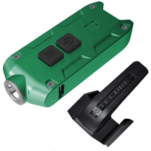 Nitecore TIP 2017 Rechargeable Metal Keyring Flashlight (Green)