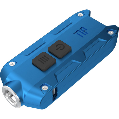 Nitecore TIP Rechargeable Metal Keyring Flashlight (Blue)