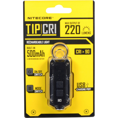 NITECORE TIP Rechargeable Metal Keyring Flashlight