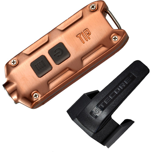 Nitecore TIP Rechargeable Metal Keyring Flashlight (Copper)