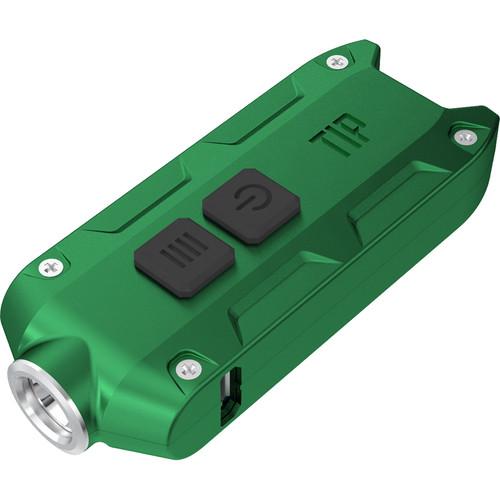 Nitecore TIP Rechargeable Metal Keyring Flashlight (Green)