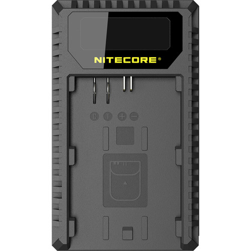 Nitecore UCN1 Dual-Slot USB Travel Charger for Canon LP-E6, LP-E6N, and LP-E8 Lithium-Ion Batteries