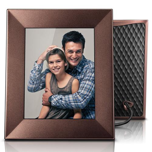 """nixplay Iris 8"""" Digital Photo Frame (Burnished Bronze)"""