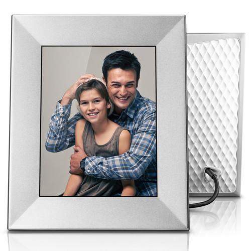 "nixplay Iris 8"" Digital Photo Frame (Silver)"