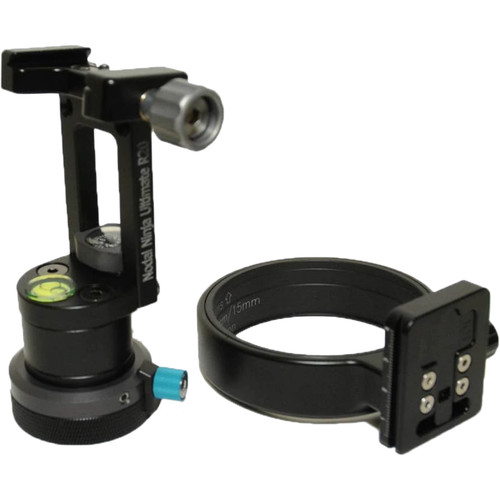 Nodal Ninja R20 Static 2.5/7.5° Tilt Head with Rotator Mini RM4 V2 & Lens Ring for Sigma 8mm f/3.5 EX DG Lens with Nikon F Mount Package
