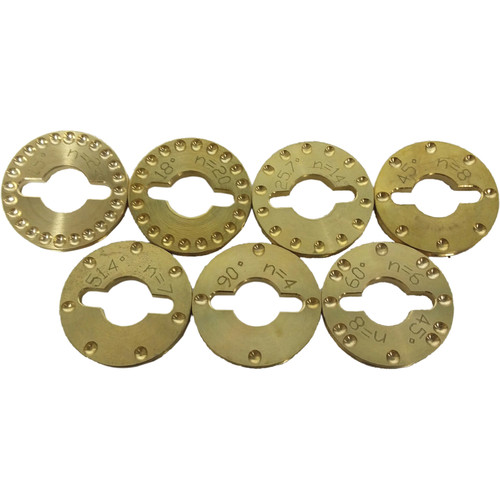 Nodal Ninja Reversible Brass Detent Rings for NN3 MkII Panoramic Head (Set of 7)