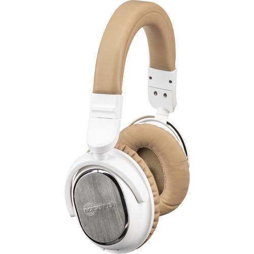 noisehush i9 Bluetooth Active Noise-Canceling Headphones (White and Beige)
