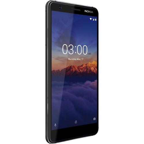 Nokia 3.1 Dual-SIM 16GB Smartphone (Unlocked, Black/Chrome)