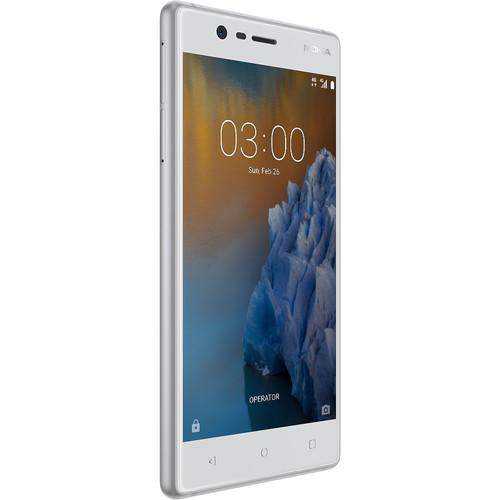 Nokia 3 TA-1038 Dual-SIM 16GB Smartphone (Unlocked, White)
