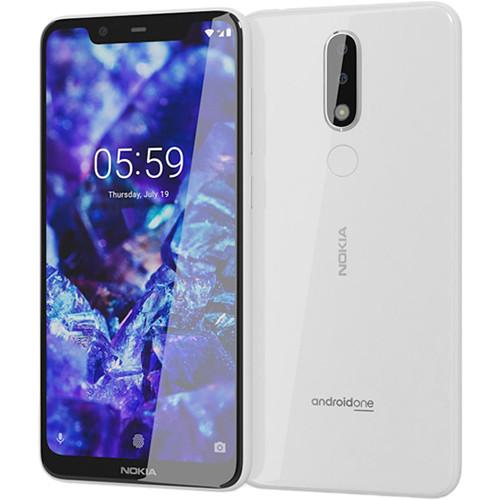 Nokia 5.1 Plus TA-1120 Dual-SIM 32GB Smartphone (Unlocked, White)