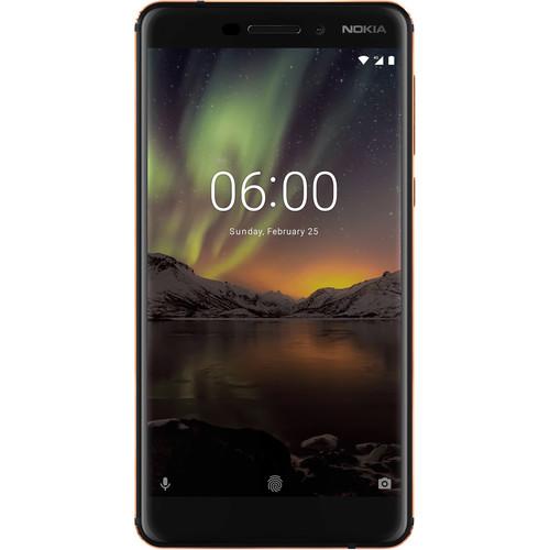 Nokia 6.1 (2018) 32GB Smartphone (Unlocked, Black/Copper)