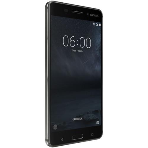 Nokia 6 TA-1025 32GB Smartphone (Unlocked, Matte Black)