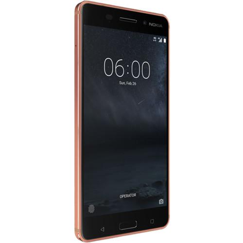 Nokia 6 TA-1025 32GB Smartphone (Unlocked, Copper)