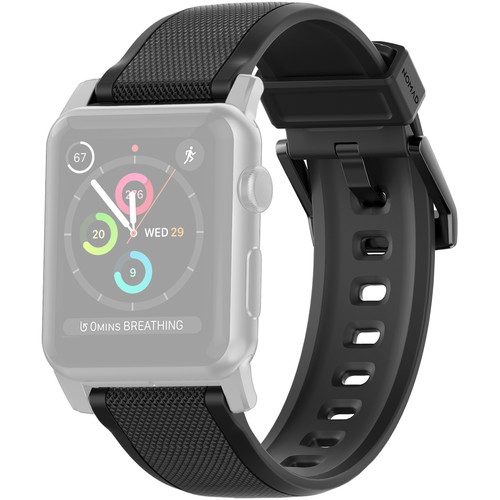 Nomad Rugged Strap for 42mm Apple Watch (Black Hardware)