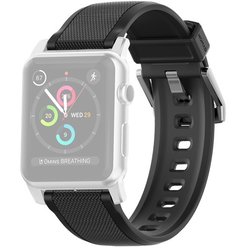 Nomad Rugged Strap for 42mm Apple Watch (Silver Hardware)