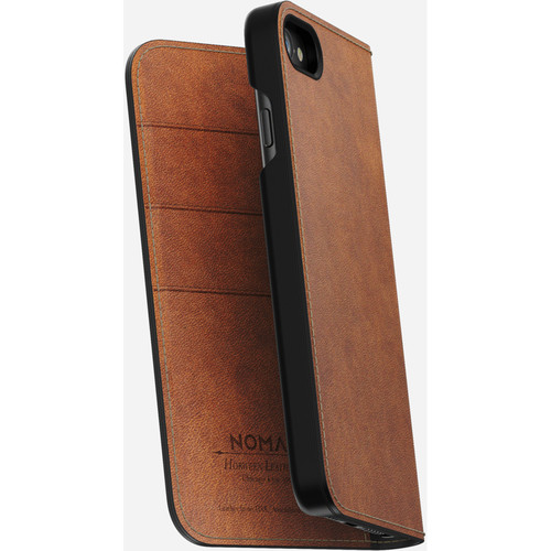 Nomad Leather Folio Case for iPhone 7/8 (Rustic Brown)