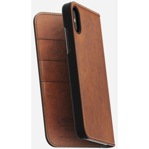 Nomad Leather Folio Case for iPhone X (Rustic Brown)