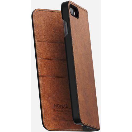Nomad Leather Folio Case for iPhone 7 Plus/8 Plus (Rustic Brown)