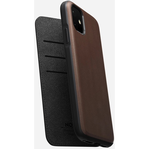 Nomad Rugged Leather Folio Case for iPhone 11 (Rustic Brown)