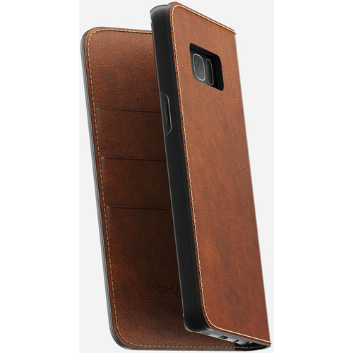 Nomad Leather Folio Case for Galaxy S8 (Rustic Brown)