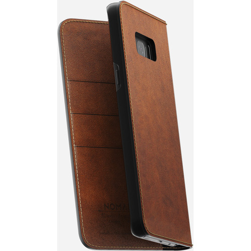 Nomad Leather Folio Case for Galaxy S8+ (Rustic Brown)