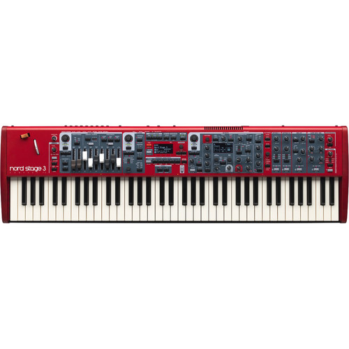 Nord Stage 3 Compact 73-Note Semi-Weighted Waterfall Keyboard with Physical Drawbars