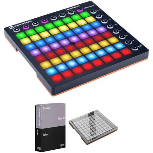 Novation Launchpad Controller MK2 Kit with Ableton Live Suite and Decksaver Cover