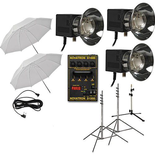 Novatron D1500 Starter Kit with 3 Fan-Cooled Heads