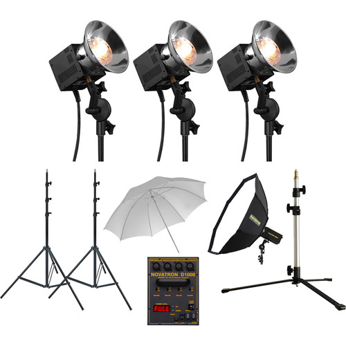 Novatron N2635KIT Head Complete Kit with Umbrella & Soft Box