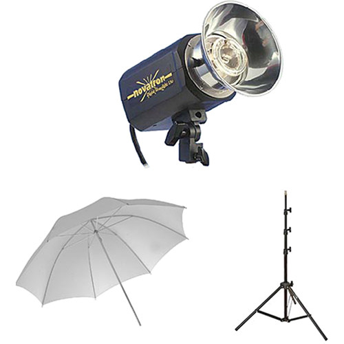 Novatron M150 2-Monolight Kit with Umbrellas