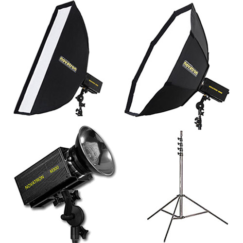 Novatron M300 2-Monolight Kit with 2 Softboxes