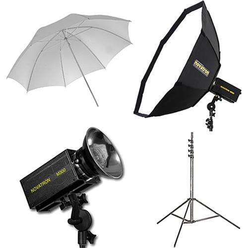 Novatron M300 2-Monolight Kit with Umbrella and Softbox