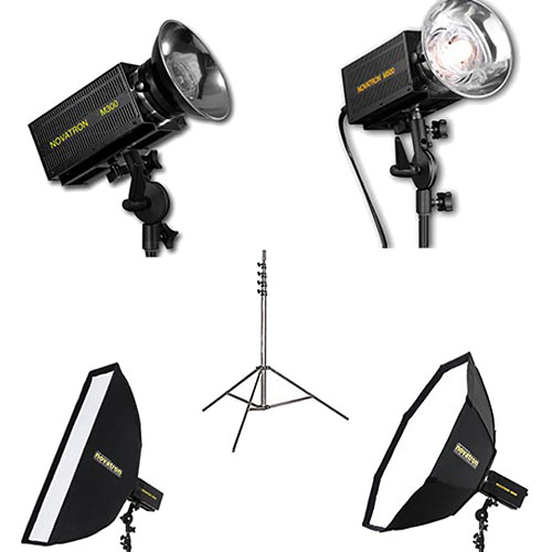 Novatron M300 / M500 2-Monolight Kit with 2 Softboxes