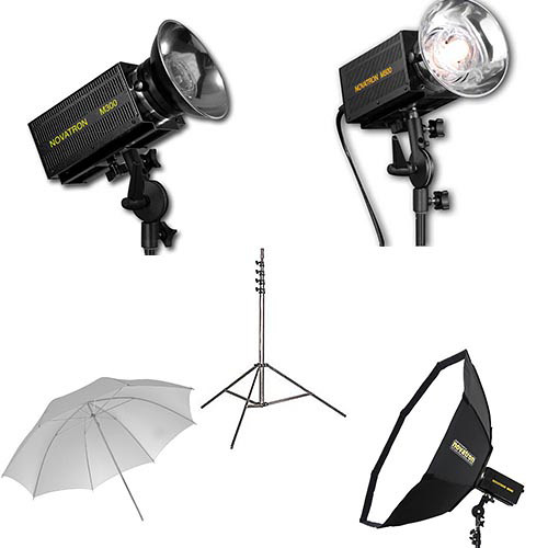 Novatron M300 / M500 2-Monolight Kit with Umbrella and Softbox