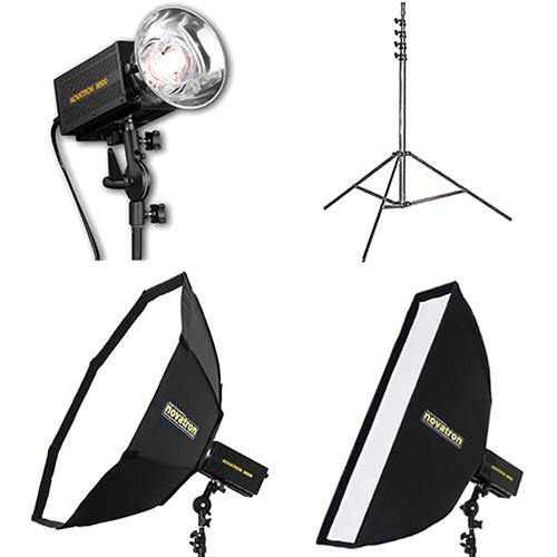 Novatron M500 2-Monolight Kit with 2 Soft Boxes (120VAC)