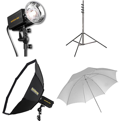 Novatron M500 2-Monolight Kit with Umbrella and Softbox