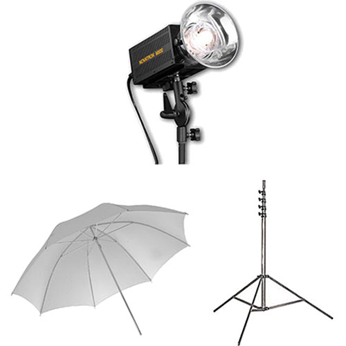 Novatron M500 2-Monolight Kit with Umbrellas
