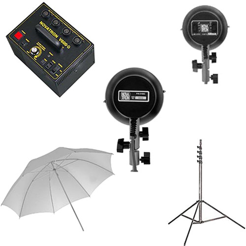 Novatron V600-D 2 Head Starter Kit with Umbrella (115 VAC)