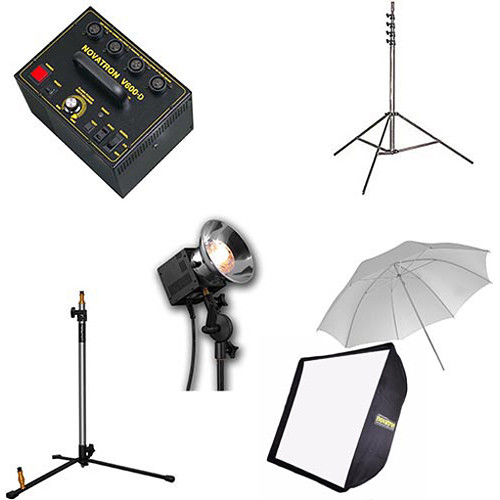 Novatron V-600D 3-Head Kit with Umbrella and Softbox
