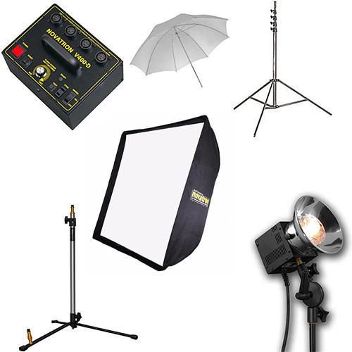 Novatron V-400D 3-Head Kit with Softbox and Umbrella
