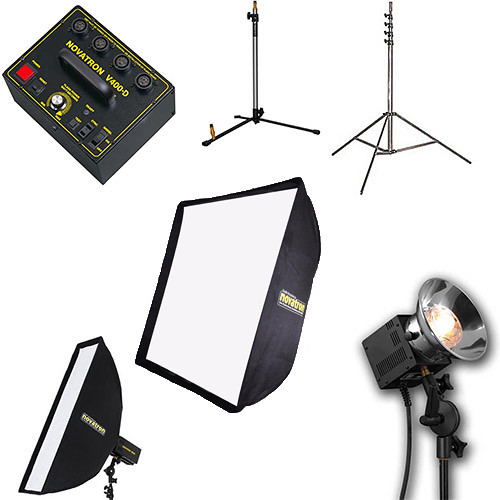 Novatron V-400D 3-Head Kit with 2 Softboxes