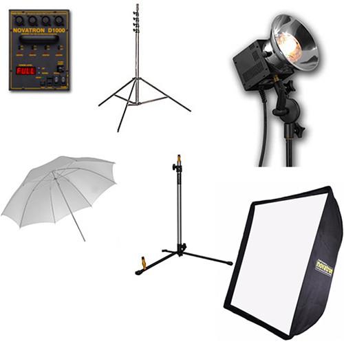 Novatron 1000D 3-Head Kit with Softbox and Umbrella