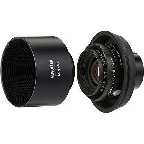 Novoflex Schneider 90mm f/4.5 Apo Digitar Lens with Adapter & Lens Hood