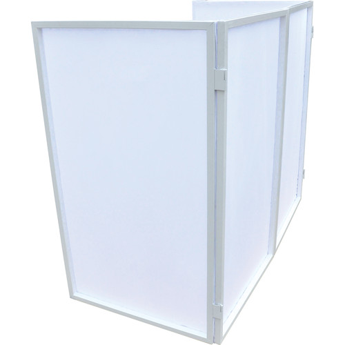 Novopro Foldable DJ Screen with Zipped Carry Bag (White Frame / White Panels)