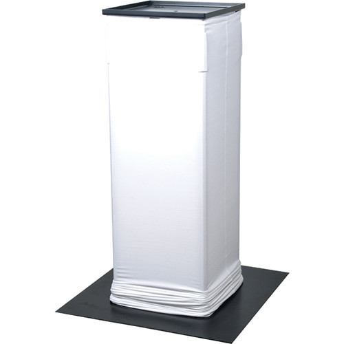 Novopro PS1+ Height-Adjustable Lighting Podium Stand with White Scrim