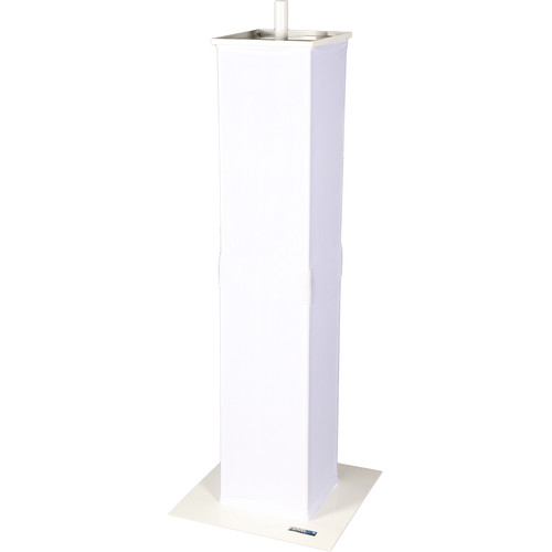 Novopro PS1+ Moving Head/Podium Stand with Scrim (White)