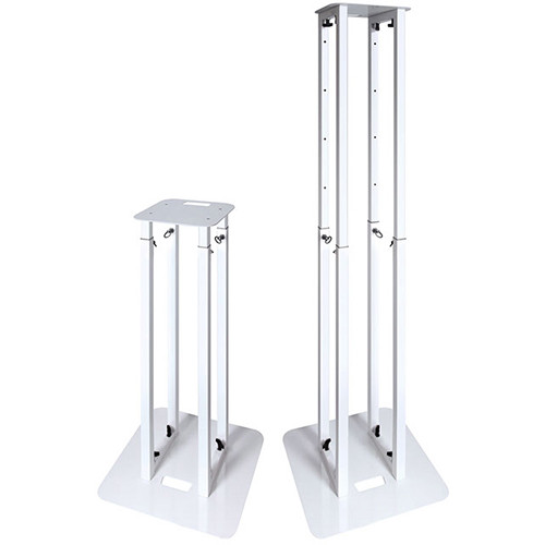 Novopro PS1XL Height-Adjustable Podium Stand with White & Black Scrims (White)