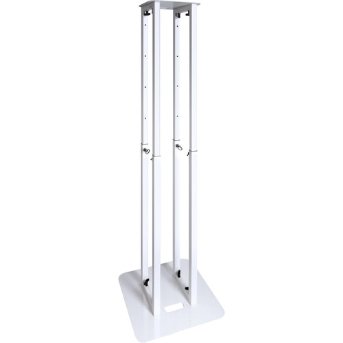 Novopro PS1XXL Height-Adjustable Podium Stand with White & Black Scrims (White)